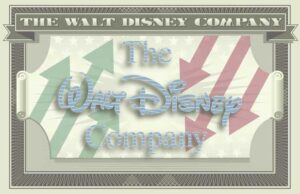 The Walt Disney Company's logo on the iconography of a dollar bill