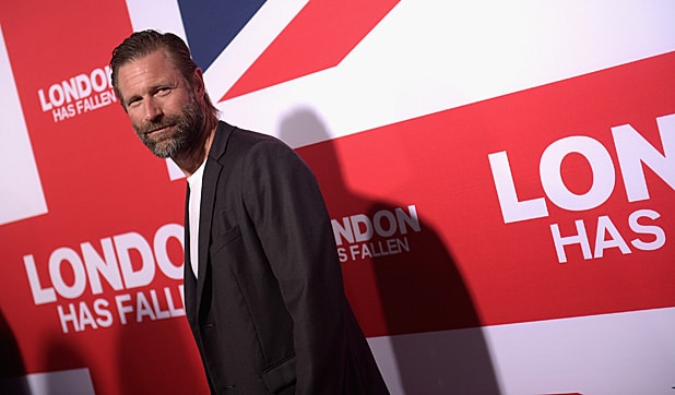"HOLLYWOOD, CA - MARCH 01: Actor Aaron Eckhart attends the premiere of Focus Features' ""London Has Fallen"" at ArcLight Cinemas Cinerama Dome on March 1, 2016 in Hollywood, California. (Photo by Jason Kempin/Getty Images)"
