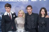 Ansel Elgort, Naomi Watts, Theo James, and Shailene Woodley at Allegiant Premiere