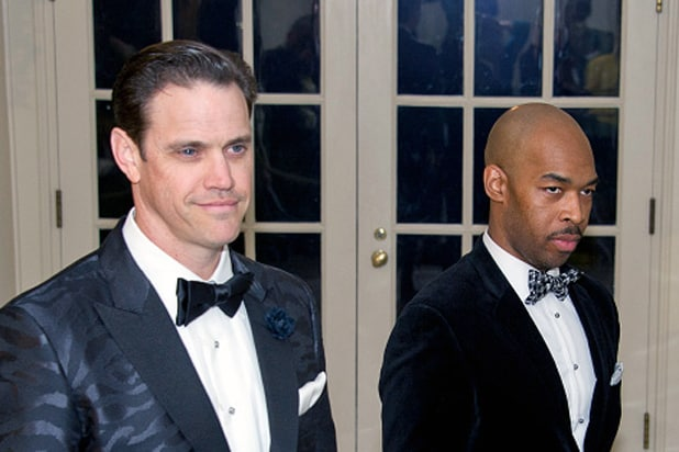 Author Robert Anderson and Eric Harland at White House State Dinner