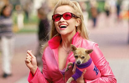 Bruiser and Reese Witherspoon in Legally Blonde