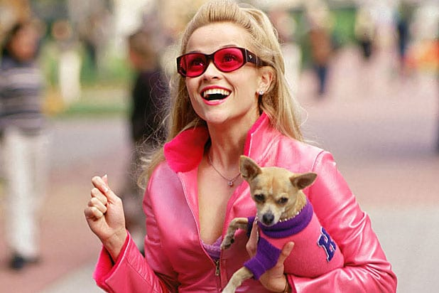 Bruiser and Reese Witherspoon in Legally Blonde 3