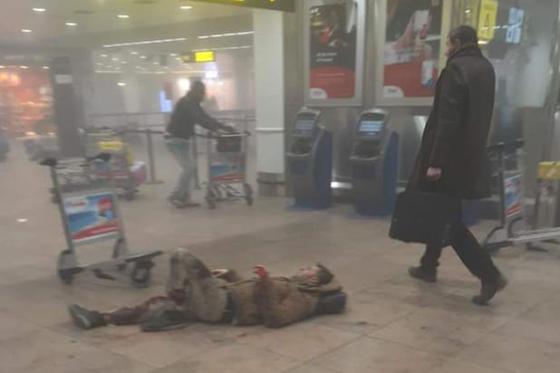 Brussels Terrorist Attacks Bloody Aftermath Captured On