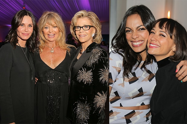 Courteney Cox Goldie Hawn Jane Fonda Rosario Dawson Party Report