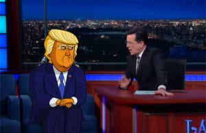 Cartoon Donald Trump The Late Show With Stephen Colbert