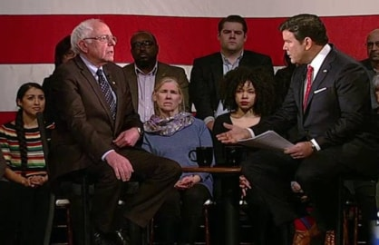 Fox news town hall with Bernie Sanders