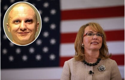 Gabrielle Giffords and Jared Loughner