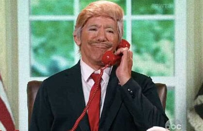 Geraldo Rivera as Donald Trump DWTS