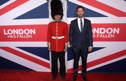 Gerard Butler at London Has Fallen premiere