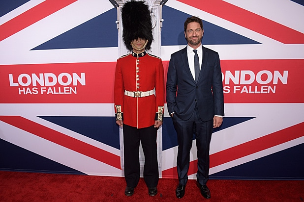 Gerard Butler Shows Off His British Pride At London Has Fallen