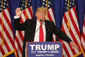 Donald Trump Holds News Conference In Jupiter, Florida