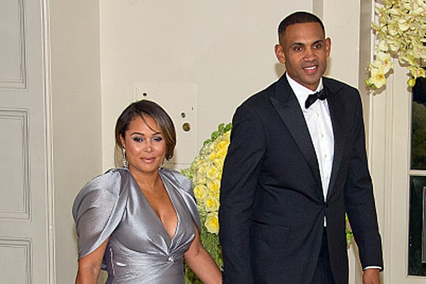 Former NBA player Grant Hill and member of The Presidents Council on Fitness, Sports & Nutrition and Tamia Hill