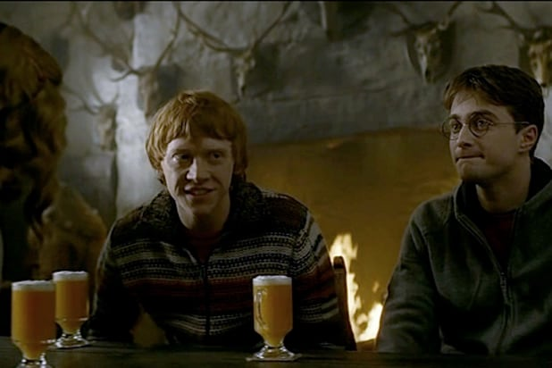 Harry Potter butterbeer scene