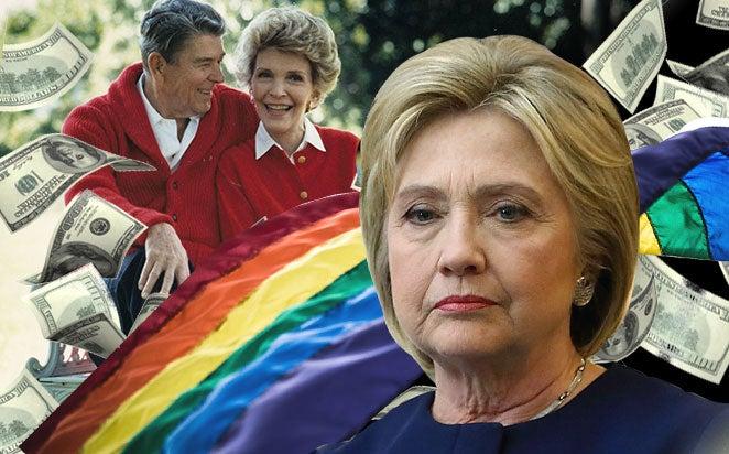 Hillary Clinton Nancy Reagan