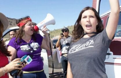 trump protestor immigration
