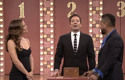 Jennifer Garner, Jimmy Fallon and Cuba Good Jr