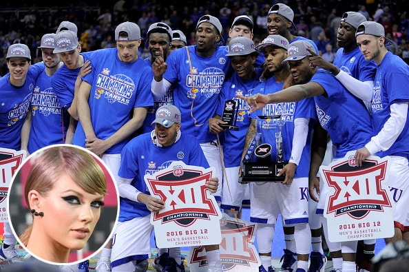 Kansas Jayhawks and Taylor Swift