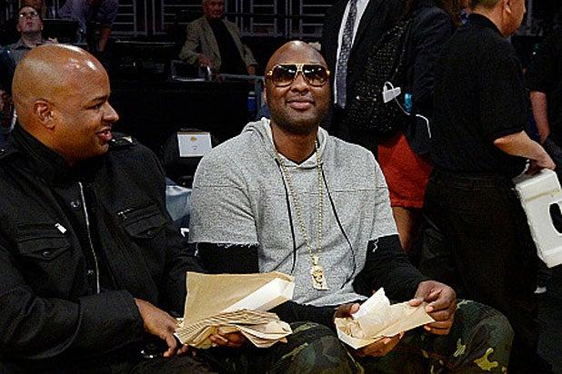 Lamar Odom at Lakers Game