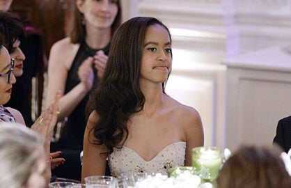 Malia Obama at White House State Dinner