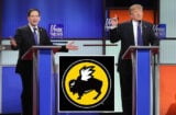 Marco Rubio and Donald Trump GOP Debate Buffalo Wild Wings