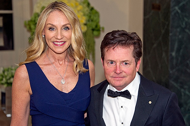 Michael J. Fox and Tracy Pollan at the Trudeau State Dinner at the White House