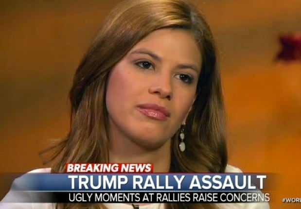 Michelle Fields, the political reporter for Breitbart who alleges she was manhandled by Corey Lewandowski, the campaign manager for the Trump presidential campaign.