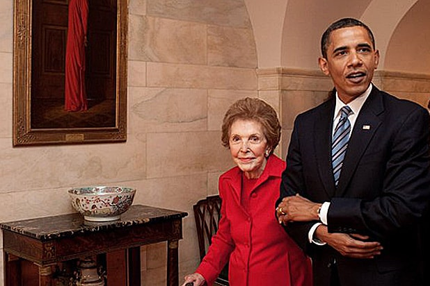 President Obama and Nancy Reagan