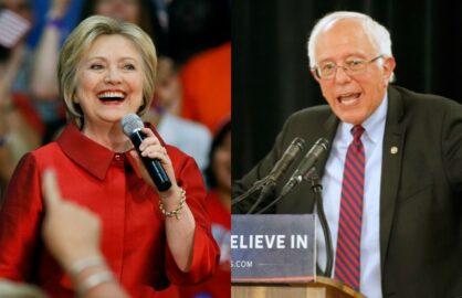 Hillary Clinton Bernie Sanders Invade Southern California