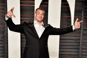 Rob Gronkowski at Vanity Fair Oscar party