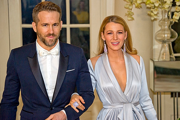 Ryan Reynolds and Blake Lively at the Trudeau State Dinner at the White House