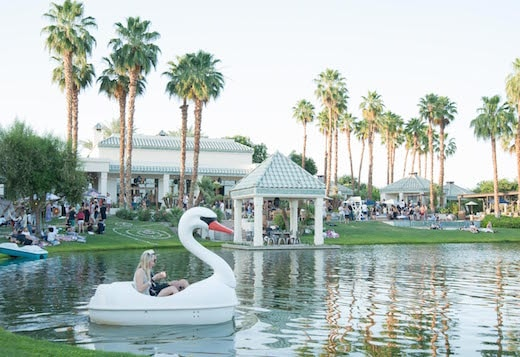 A view of the Soho House Coachella pop up on April 11, 2015