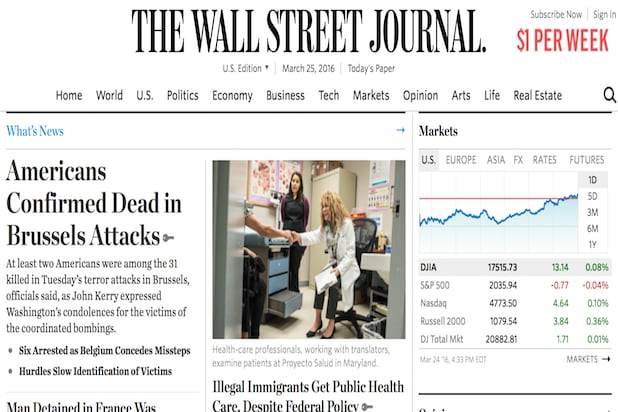 Wall Street Journal Slashes Print Pages, Arts and Local Coverage Due ...