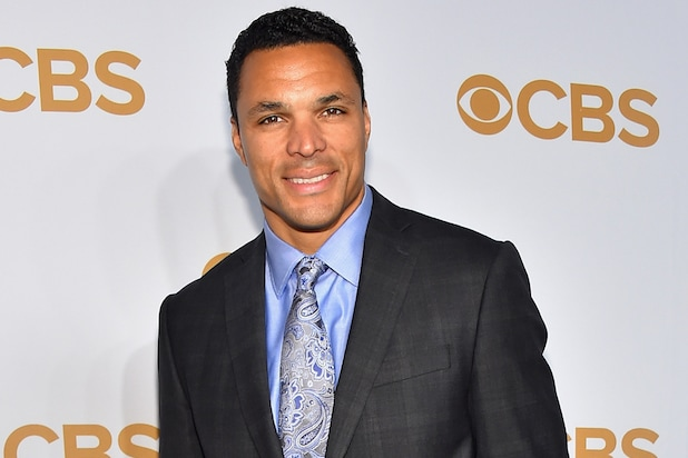 NEW YORK, NY - MAY 13:  Former NFL player Tony Gonzalez attends the 2015 CBS Upfront at The Tent at Lincoln Center on May 13, 2015 in New York City.  (Photo by Michael Loccisano/Getty Images)