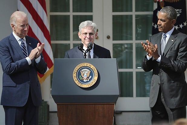 Vice-President Joe Biden, Merrick Garland, President Barack Obama