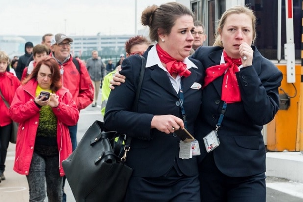 brussels airport workers