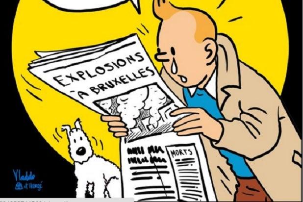 brussels belgium tintin explosions