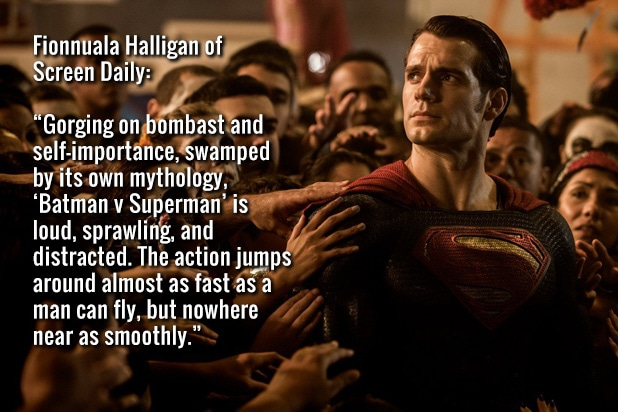 batman v superman critics