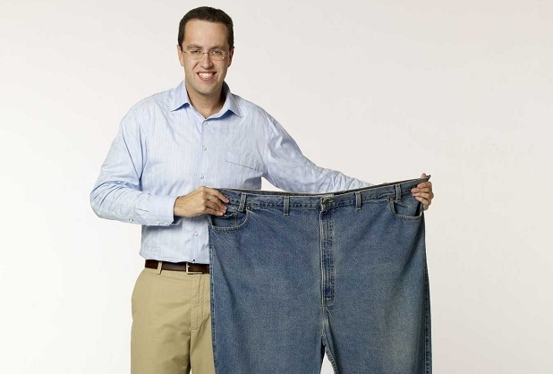 jared fat pants ten years