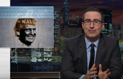 john oliver donald trump border wall
