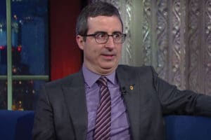 John Oliver talks Donald Trump on Stephen Colbert