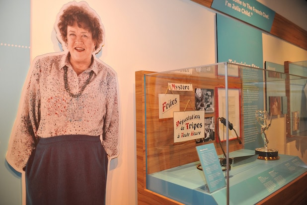 Julia Child display at the Smithsonian