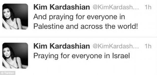 kim kardashian israel palestine twitter