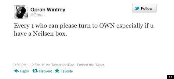 oprah winfrey nielsen tweet