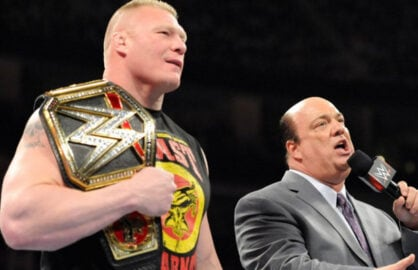 Paul Heyman Brock Lesnar