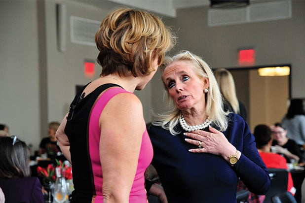 Sharon Waxman Debbie Dingell at Power Women Breakfast