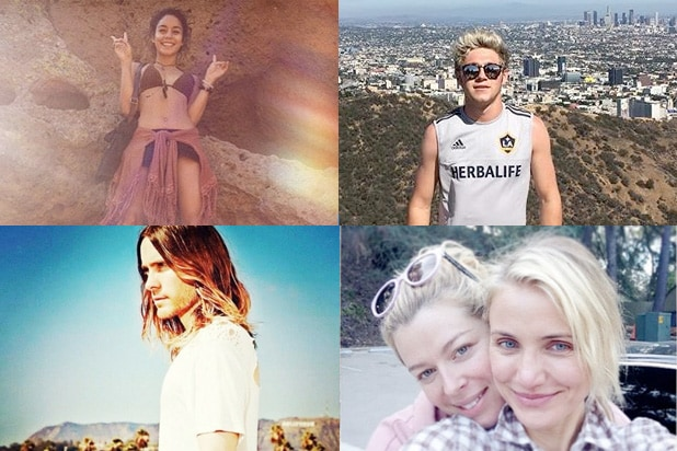 Runyon Canyon stars Vanessa Hudgens, Niall Horan, Cameron Diaz and Jared Leto