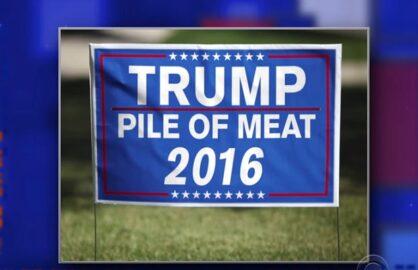stephen colbert donald turmp pile of meat