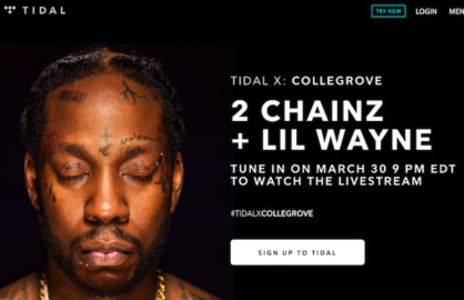 Tidal will livestream a 2 Chainz and Lil Wayne concert free