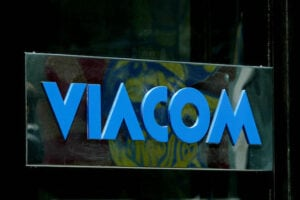 Viacom's logo outside its headquarters