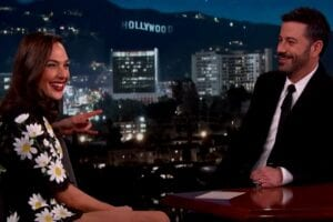 wonder woman gal gadot jimmy kimmel